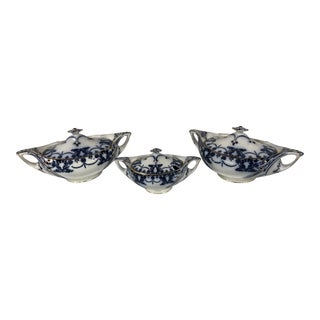 Late 19th Century Rare T.Till and Sons Venus Pattern Vegetable Bowls and Sauce Tureen For Sale