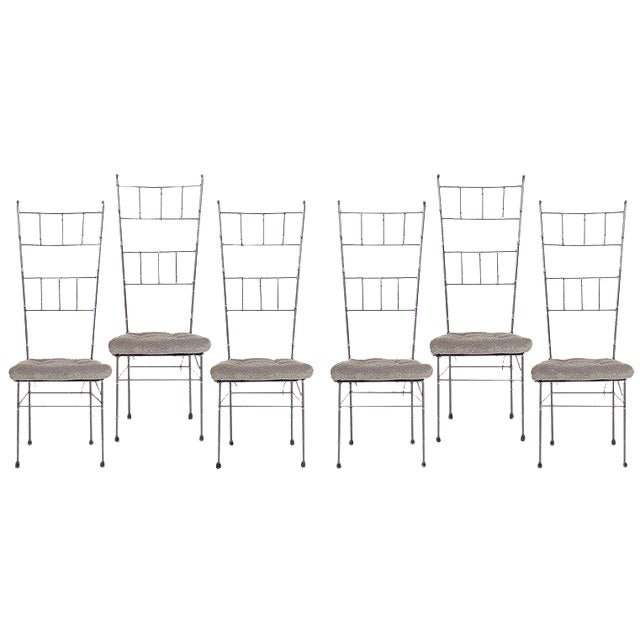 Black Faux Bamboo Dining Chairs - Set of 6 For Sale