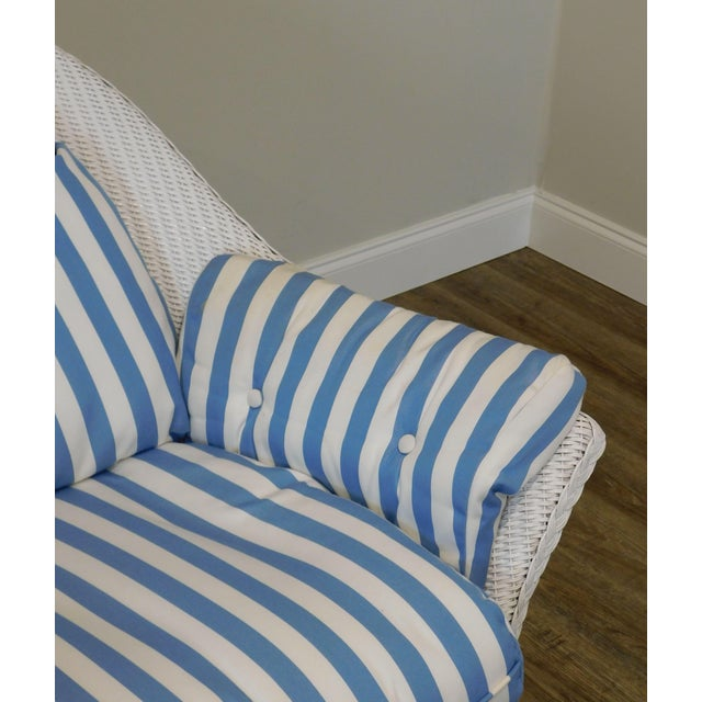 LLoyd Flanders White Wicker Pair Patio Porch Rockers For Sale - Image 12 of 13