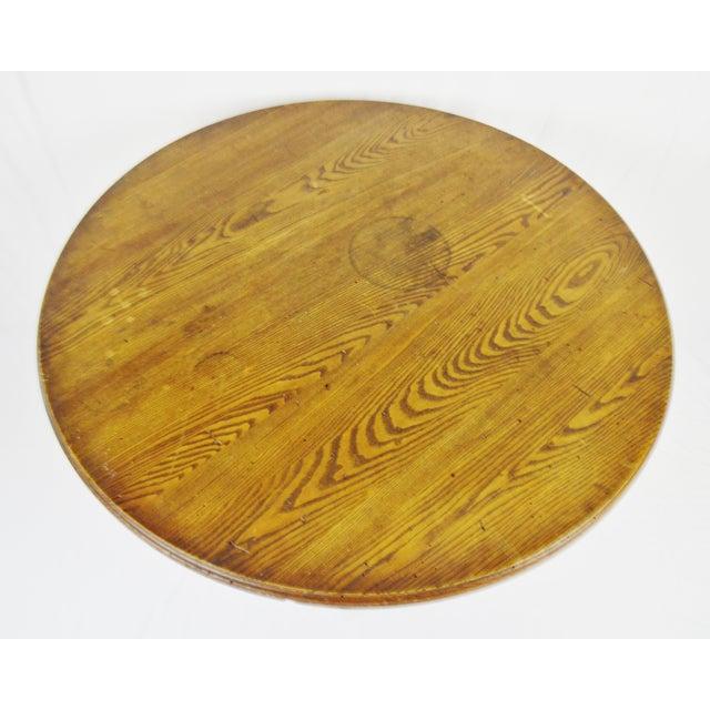 Rene Brancusi Chestnut & Iron Table - Image 4 of 10