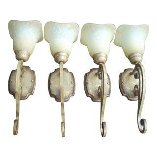 Single Light Wall Sconce - Set of 4