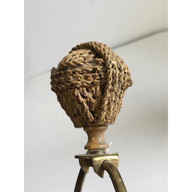 1970s Hollywood Regency Gilt Rope and Tassel Lamps - a Pair For Sale - Image 9 of 10