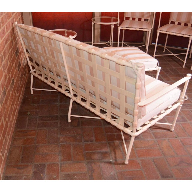 Brown Jordan Cast Metal Outdoor Settee, Ottoman & Accent Tables For Sale In New York - Image 6 of 12