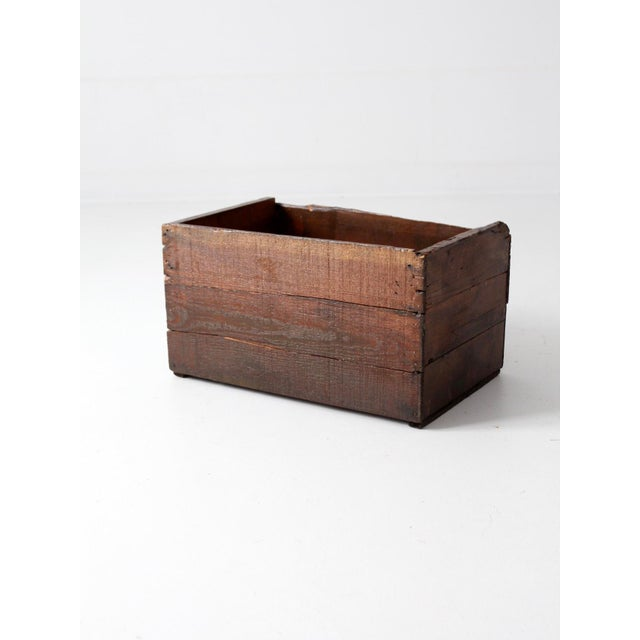 Vintage Apple Crate Wood Box - Image 7 of 7
