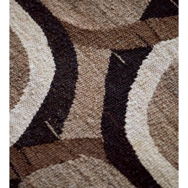 2010s Wool Flatweave Rug Handwoven in Turkey For Sale - Image 5 of 7