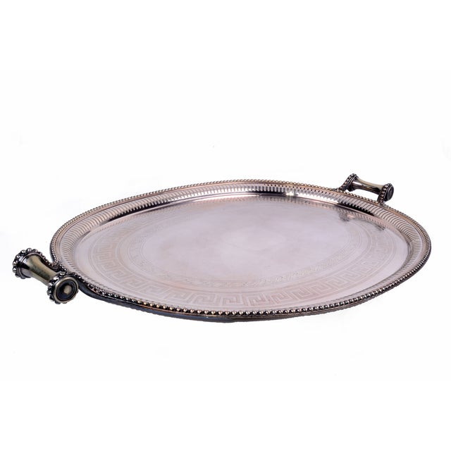 Traditional James Dixon & Sons for Sheffield Silver-Plate Tray For Sale - Image 3 of 10