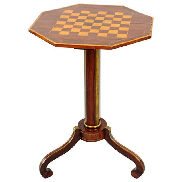 Traditional Exceptional Russian Parquetry Inlaid Chess Table With Gilt Mounts For Sale - Image 3 of 3