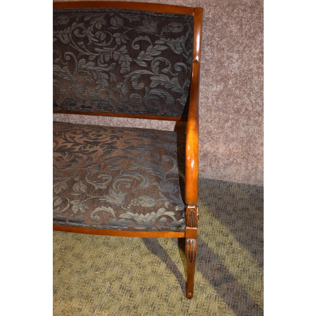 1980s 1980s Vintage Italian Provincial Style Settee For Sale - Image 5 of 13