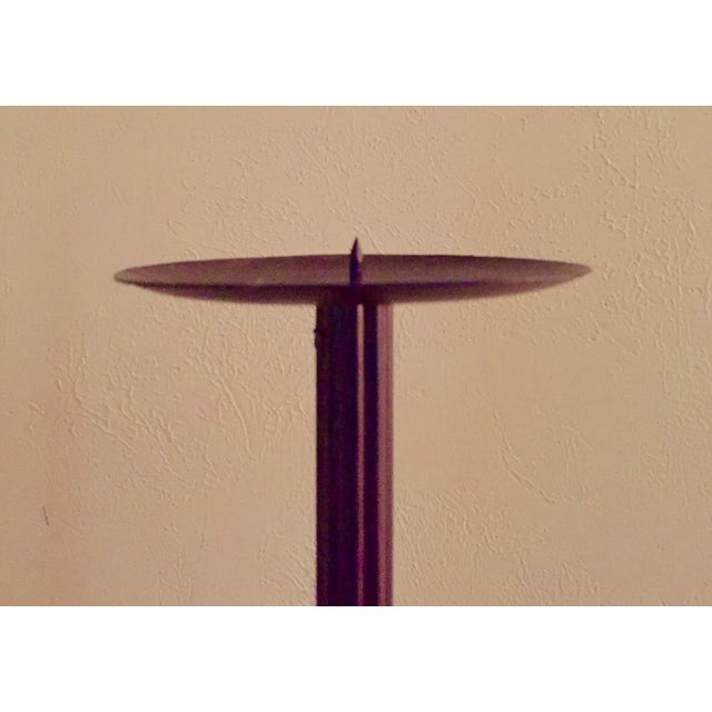 Iron Pricket Candlesticks - A Pair - Image 3 of 6