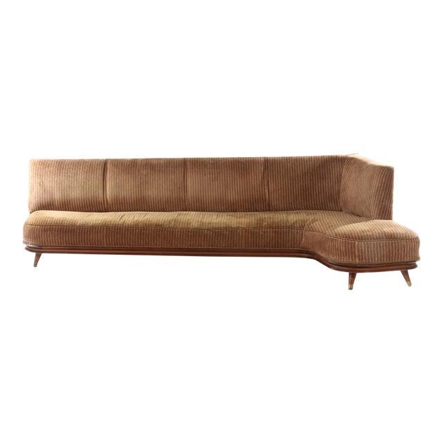 L Shaped Italian Sofa For Sale