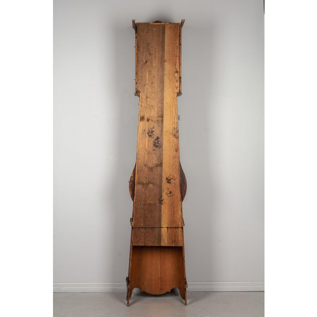 19th Century French Comtoise Grandfather Clock For Sale - Image 11 of 12