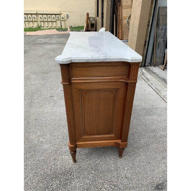 Sienna 1910s French Louis XVI Antique Mahogany Sideboard or Buffet For Sale - Image 8 of 13