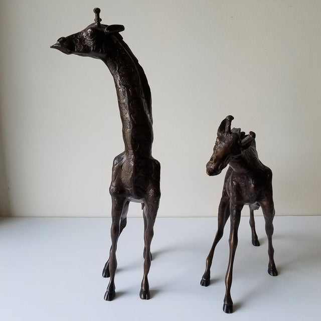 Contemporary Cast Iron Giraffes by Metropolitan Galleries - a Pair For Sale - Image 3 of 13
