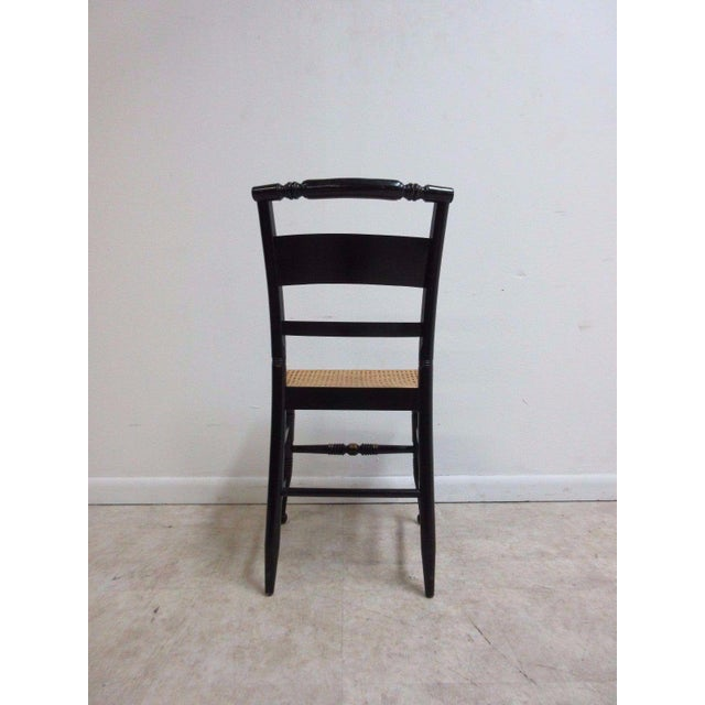 Black Vintage Hitchcock Style Cane Seat Side Chair For Sale - Image 8 of 10
