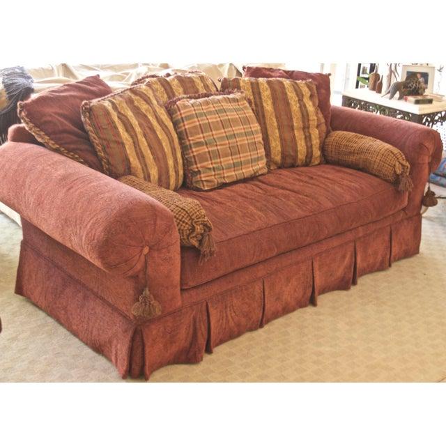 1990s Lane Raymond Waites Custom Bolster Sofa For Sale - Image 5 of 13