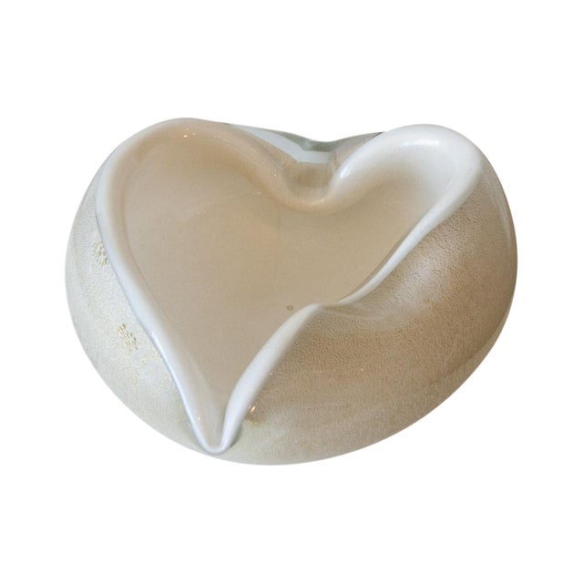 Vintage Murano Glass Heart Bowl - Image 1 of 11