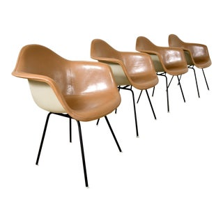 Mid Century Eames for Herman Miller Fiberglass Shell Chairs - Set of 4 For Sale