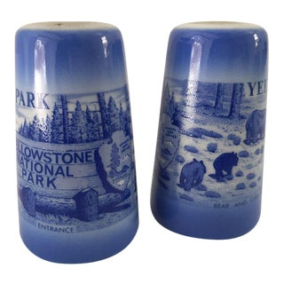 Mid-Century Yellowstone Park Souvenir Salt & Pepper Shakers - A Pair For Sale