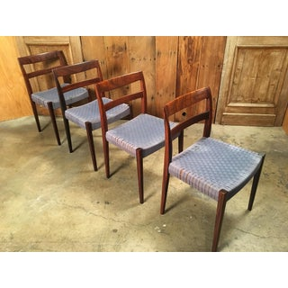 Scandinavian Modern Rosewood Dining Chairs - Set of 4 Preview