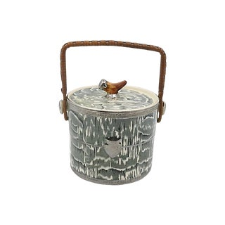 1930s Silver Shield Faux Bois Ice Bucket