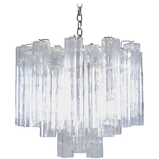 Murano Glass Tronchi Chandelier For Sale - Image 9 of 9