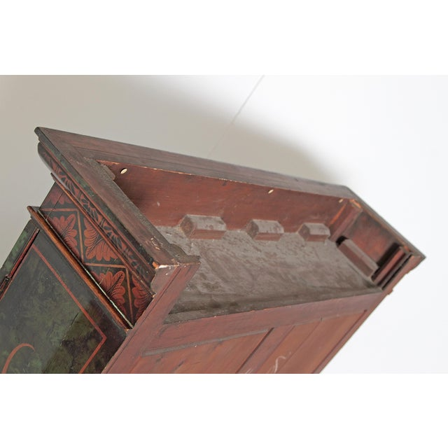 English Chinoiserie Secretary With Mirrored Doors For Sale - Image 11 of 13