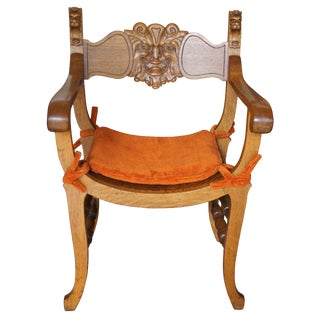 Late Victorian Stomps Burkhardt Saddle Curule Seat Northwind Chair For Sale