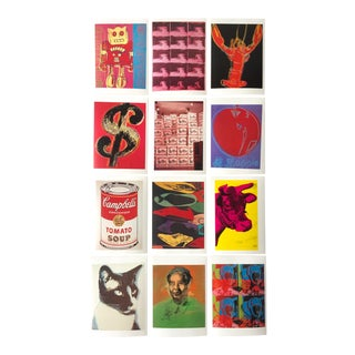"Andy Warhol 1989 ""Aw Estate Foundation"" Collector's Postcard Prints - Set of 12 For Sale"