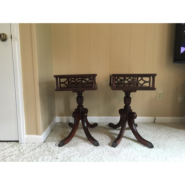 Neoclassical Imperial Federal Style Side Tables - A Pair For Sale - Image 3 of 12