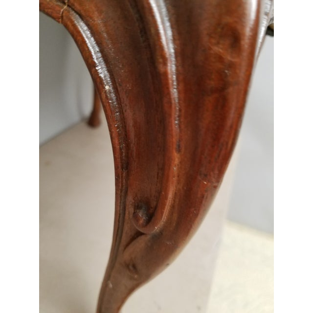 1930s French Country Walnut Bench With Hoof Feet For Sale In Philadelphia - Image 6 of 8
