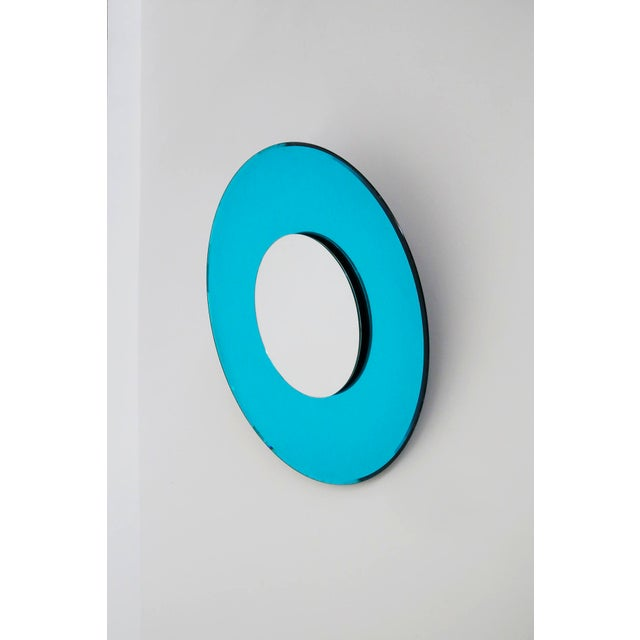 Mirror Blue Contemporary Fashion in Style Fontana Arte by Effetto Vetro, 2010 For Sale - Image 11 of 11
