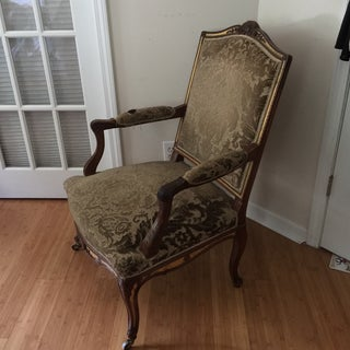 Solid Wood Damask French Bergere Chair Preview