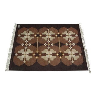 Swedish Flat Weave Rug For Sale
