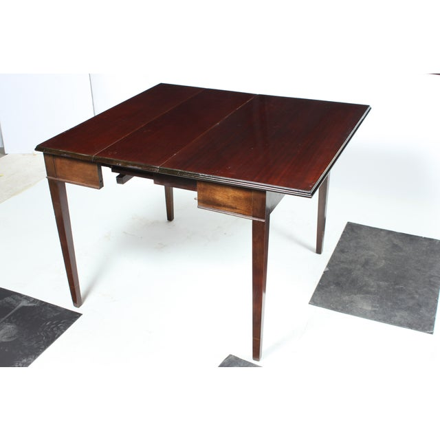 Americana Mahogany Drop Leaf Dining Table For Sale - Image 3 of 8