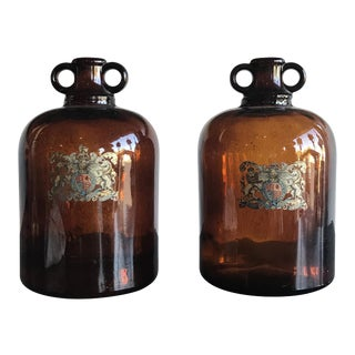 Armorial English Jugs - A Pair