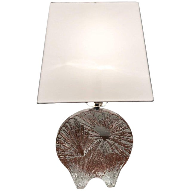 1960 Daum Crystal French Table Lamp For Sale