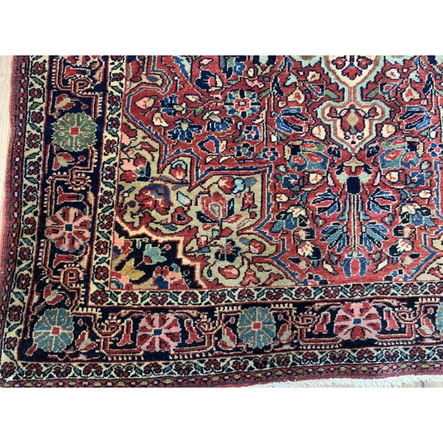 """1930s Antique Persian Sarouk Rug- 3'3"""" X 4'10"""" For Sale - Image 4 of 10"""