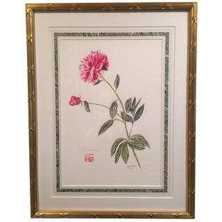 Botanical Flower Gold Framed Print