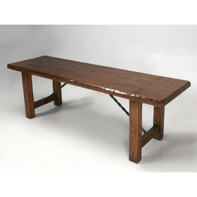 1950s French Farm Table With Matching Benches - 3 Pc. Set For Sale - Image 5 of 13