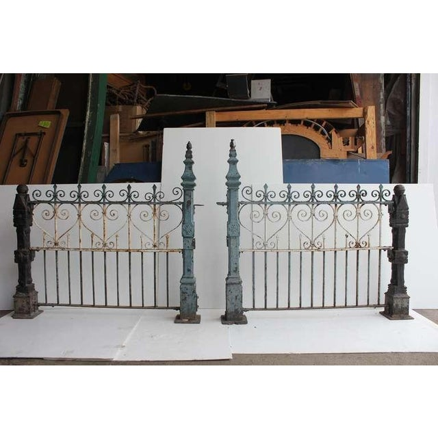 Custom made antique wrought iron decorative fence with cast iron posts. More available in different sizes. Please contact...