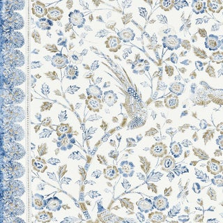 Scalamandre Anissa Print Fabric in Lakeside For Sale