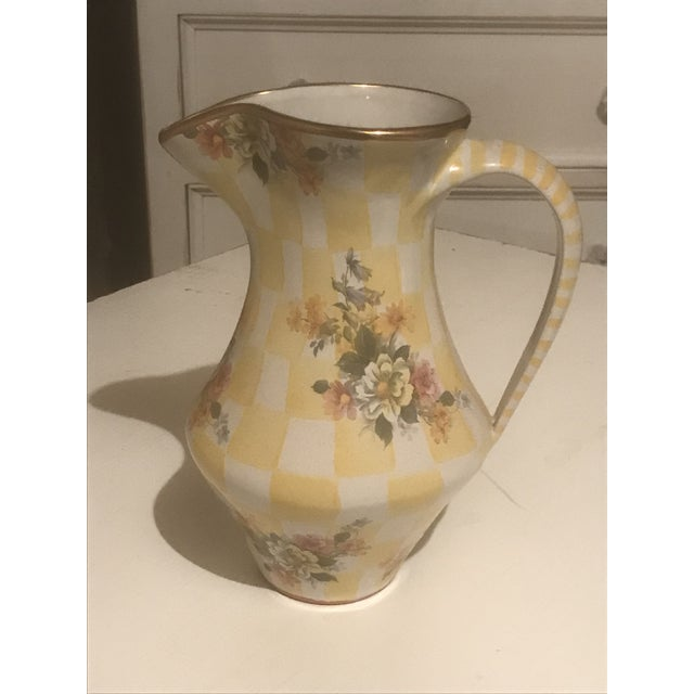 Shabby Chic 1990s Mackenzie Childs Pitcher For Sale - Image 3 of 3