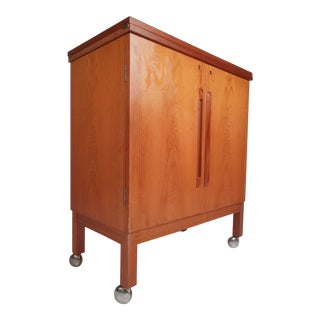 Midcentury Danish Teak Bruksbo Bar Cabinet For Sale