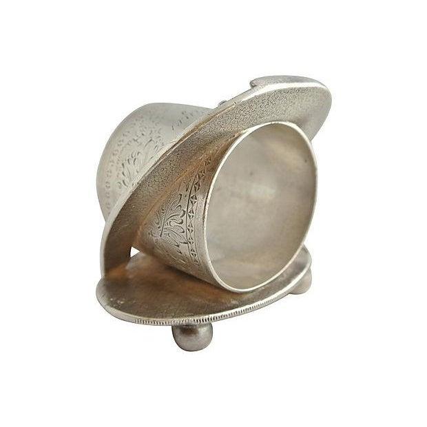 Antique Silver Signed George Bonheur, Napkin Ring - Image 5 of 6