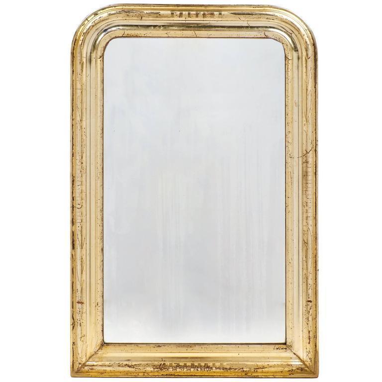 19th Century French Antique Gold Leaf Mirror Chairish