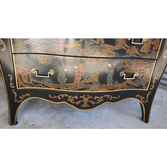 Gold Drexel Et Cetera Chinoiserie Chest of Drawers For Sale - Image 7 of 11