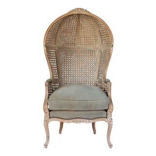 Italian Hooded Porter Chair For Sale