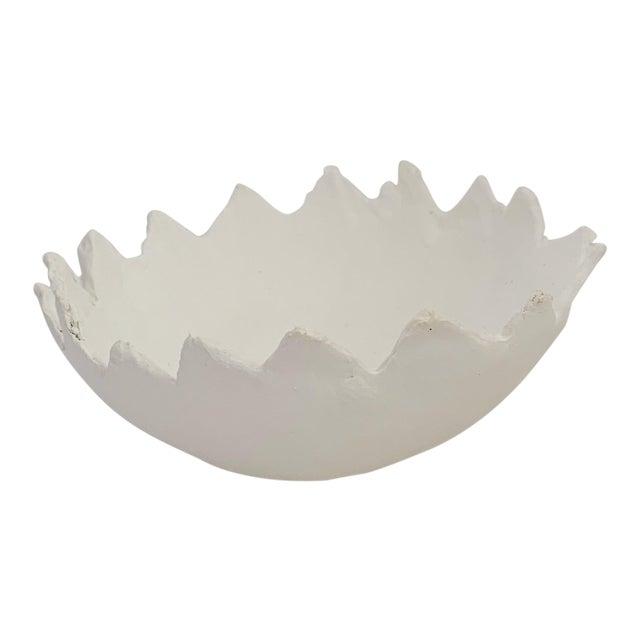 The Haze Zig Zag White Plaster Storage Tray Bowl For Sale