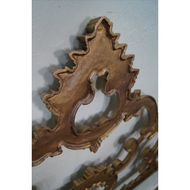 Vintage Gilt Rococo King Headboard For Sale - Image 10 of 10
