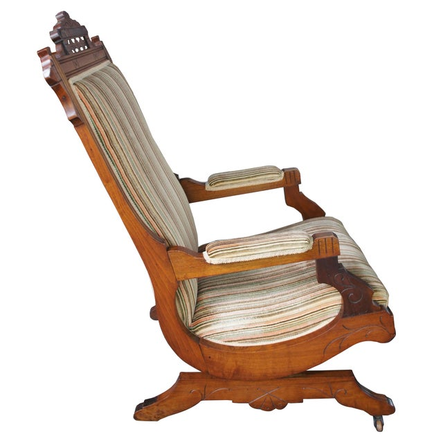Traditional Late 19th Century Antique Buser's Champion Novelty Rocker Platform Rocking Chair For Sale - Image 3 of 13